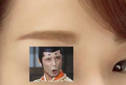 マロ状態の眉毛