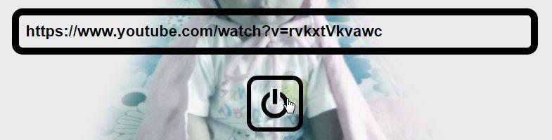Youtube動画のURLを入力しボタンをクリック